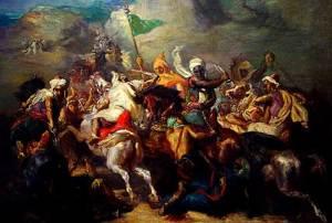 Saracen conquerors on horses