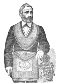 Edmond Ronayne as a Master Mason (prior to his conversion to the Truth)