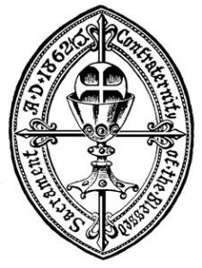 The badge of the Confraternity of the Blessed Sacrament, a group within Anglicanism promoting Roman Catholic doctrine
