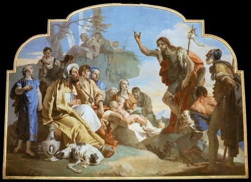 """John the Baptist preaching"" by  Giovanni Battista Tiepolo (1733)"