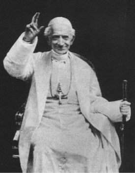 "Pope Leo XIII in 1894 : ""We hold the place of God on earth"""