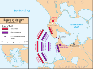 Battle of Actium (31 B. C.) : order of battle (Wikipedia.org)