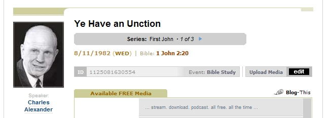 "Sermon I recently enjoyed : ""Ye Have an Unction"" by Charles ..."
